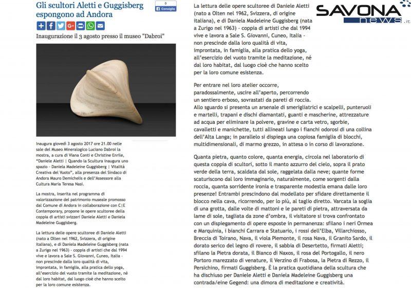 SAVONA NEWS ALETTI